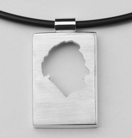 Rectangular pendant, open profile with edge