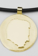 Round pendant with imposed profile