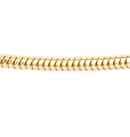 Foxtail chain - Ø 1,6 mm. - yellow gold