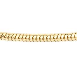 Vossenstaart collier - Ø 1,6 mm. - geelgoud