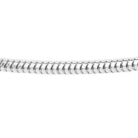 Vossenstaart collier - Ø 1,2 mm. - zilver
