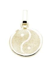 Yin Yang anhänger,  gewölbt