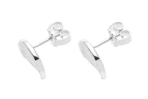 Earrings, half round