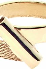 Bague 4 mm. avec réservoir de cendre  incl. empreinte digitale