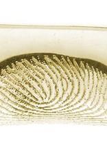 Armband leder/neopreen mit Fingerabdruck und Magnetschliesse