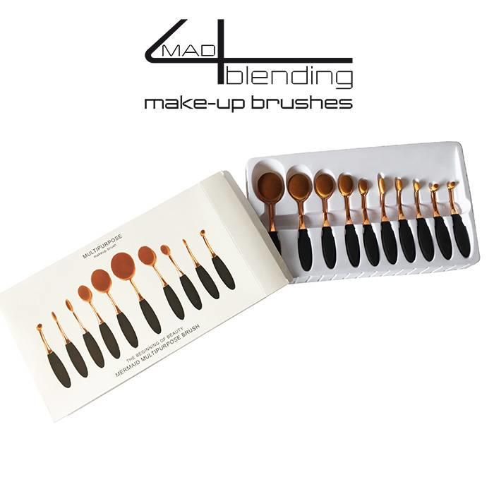 Mad4blending set van 10  Make-up brushes