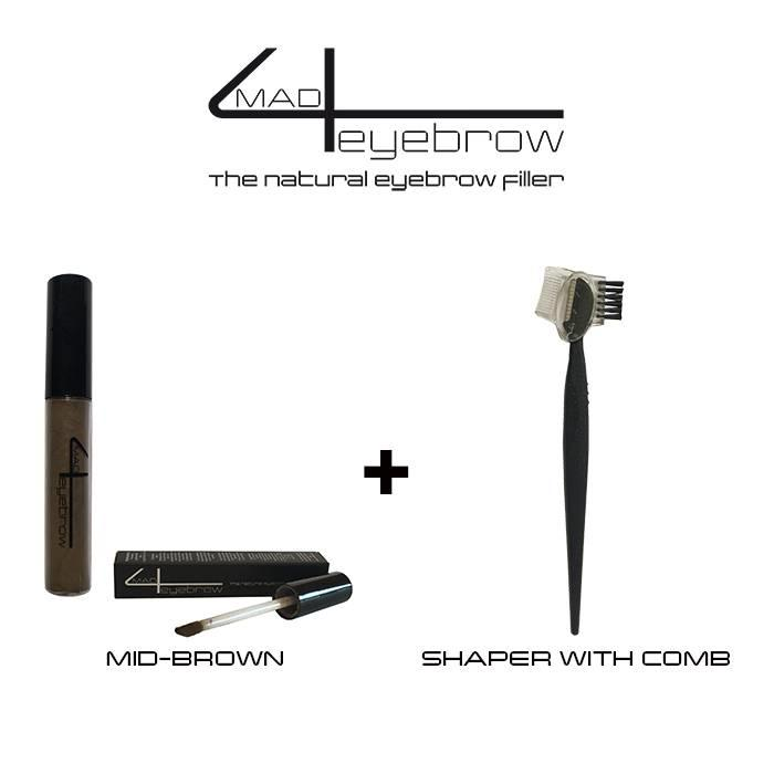 mad4eyebrow eyebrow filler + shaper with comb