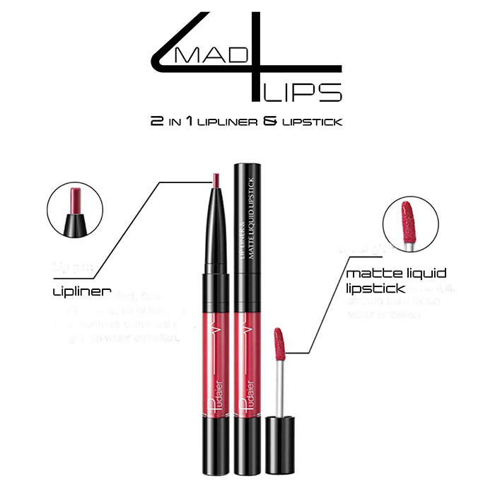 mad4lips 2 in 1 lipliner & Lipstick Farben