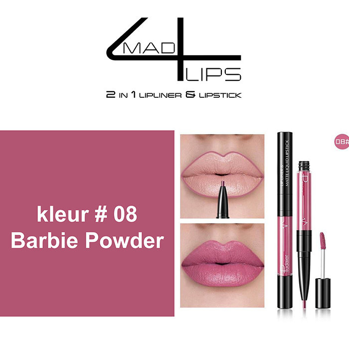 mad4lips 2 in 1 lipliner & Lipstick in 9 prachtige kleuren