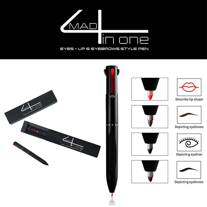 mad4 in one Eyes - lips & eyebrows style pen