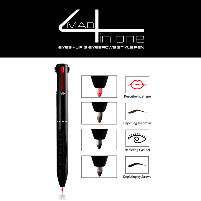 made4 in one Eyes - lips & eyebrows style pen