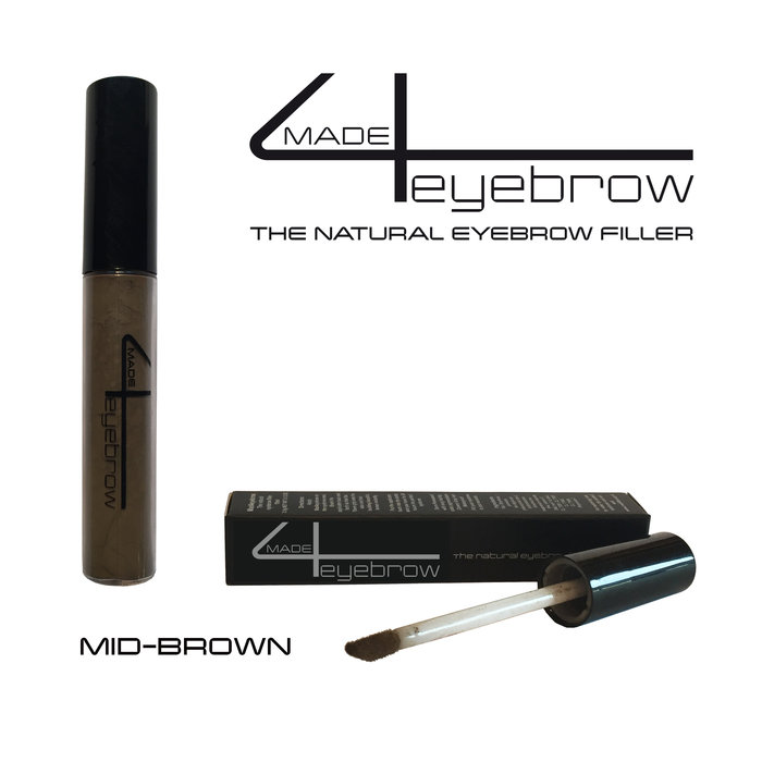 "made4eyebrow ""Mid-brown"" the natural eyebrow filler"
