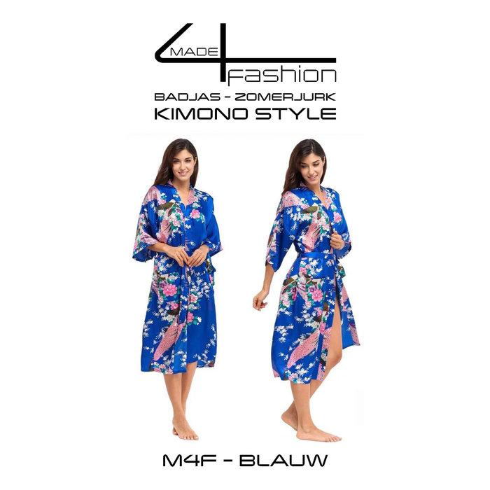 Made4fashion Sommerkleid im Kimono-Stil - Grün- und Blautöne