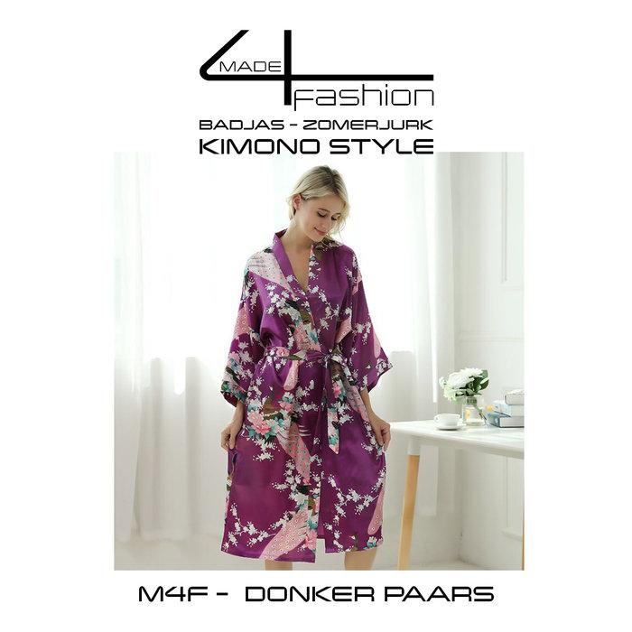 Made4fashion Sommerkleid im Kimono-Stil - Pink und Lila Töne