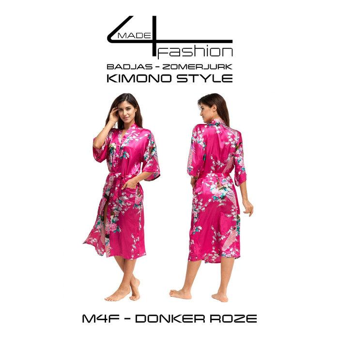 Made4fashion Zomerjurk Kimono style - Roze en Paars Tinten