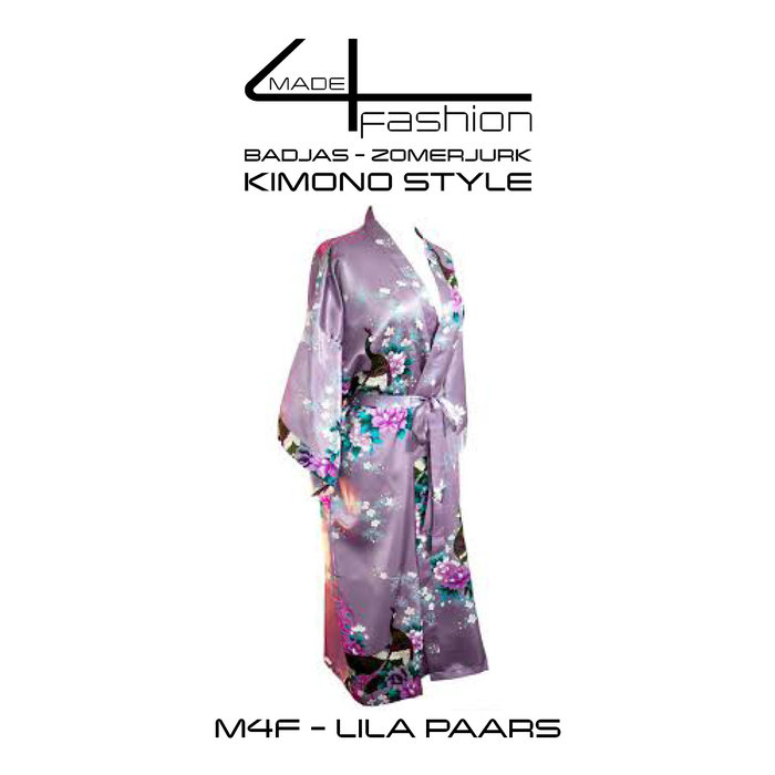 Made4fashion Summer dress Kimono style - Pink and Purple Tones