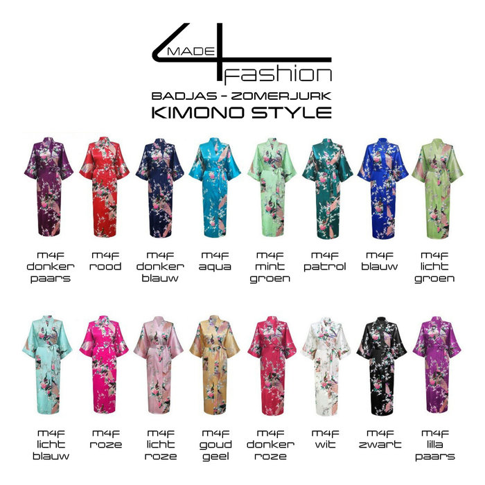 Made4fashion Summer dress Kimono style - white, black, Red and Gold yellow