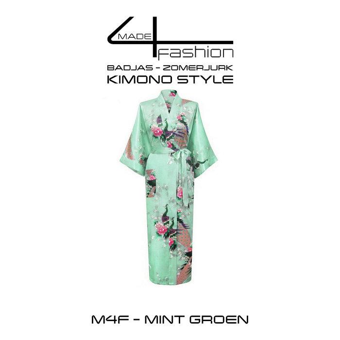 Made4fashion Zomerjurk Kimono style - Groen en Blauw Tinten