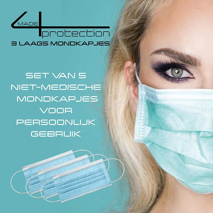 Geschenktipp Tarnset mit 5 made4protection 3-lagiger Gesichtsmaske als Geschenk