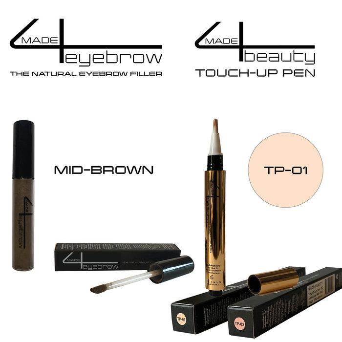 Angebot Made4eyebrow Der natürliche Augenbrauenfüller + Made4beauty Touch-up Pen