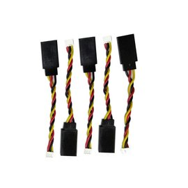 2_Lynx Heli Innovations Servo Cable JST1.5 to Futaba Adapter, 5 pc      LX1787