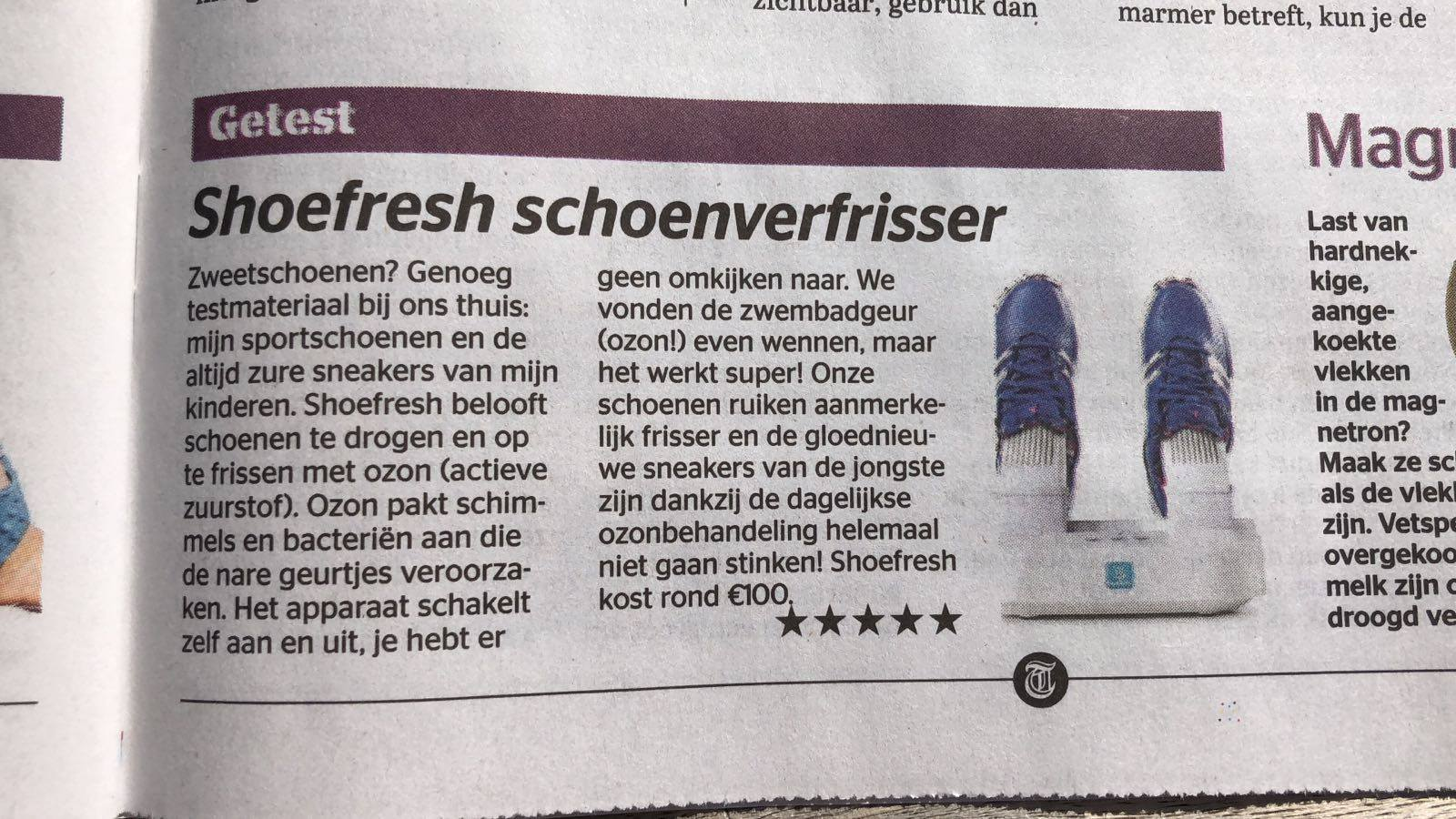 Shoefresh review Telegraaf