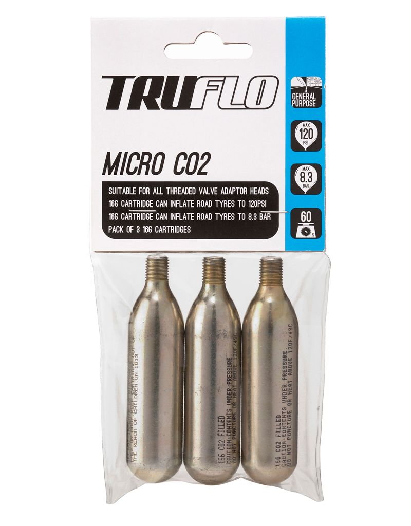Truflo Truflo CO2 Refill 16g Cartridges, 3 Pack