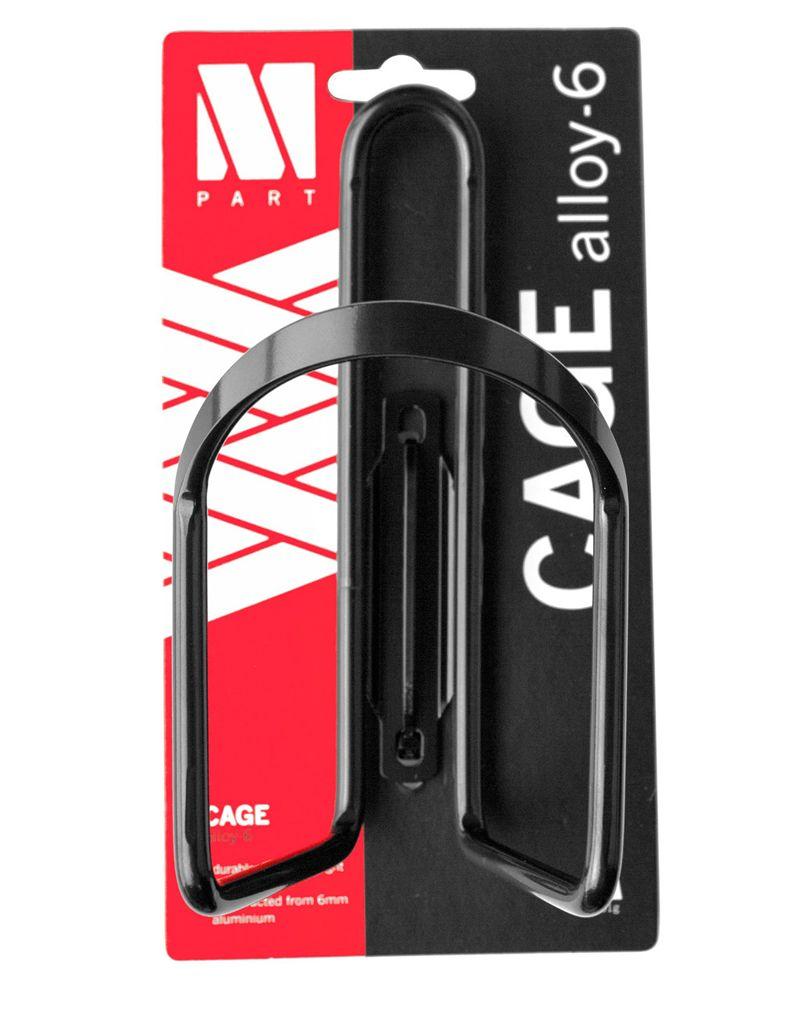M-Part M:Part Bottle Cage 6mm Alloy, Black