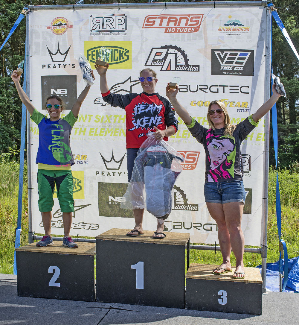 Carrie Afan Podium