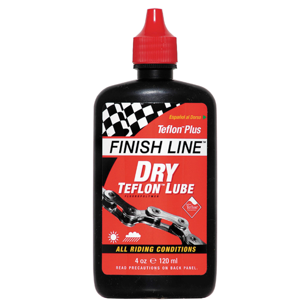 Finish Line Teflon Plus Dry Chain Lube 120 ml Bottle