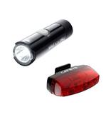 Cateye Volt 100 XC Front Light & Rapid Micro Rear USB Light Set