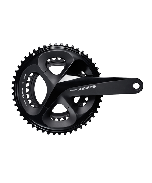 Shimano 105 Shimano FC-R7000 105 Double Chainset, HollowTech II 170 mm 50 / 34T, Black 11 Speed