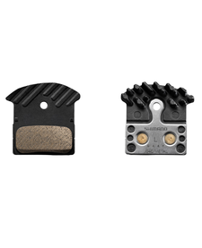 Shimano J04C Brake Pads, Sintered with Cooling Fin - Ice Tech
