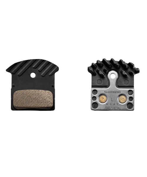 Shimano Spares Shimano J04C Brake Pads, Sintered with Cooling Fin - Ice Tech
