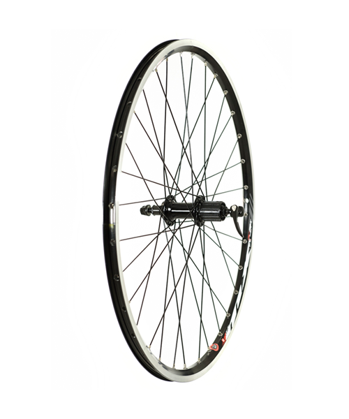 Raleigh Raleigh Rear Wheel 26'' Deore Hub MX Rim Black - w/braking surface