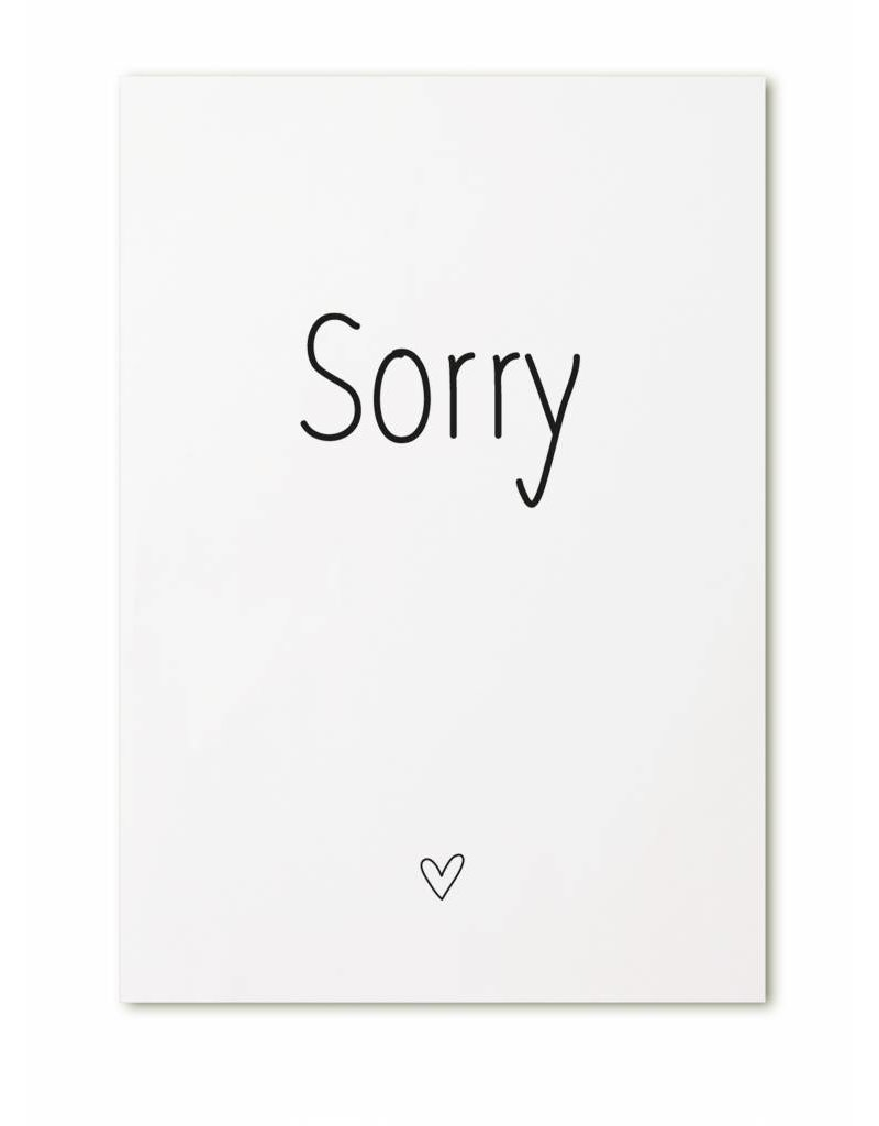 Zoedt Kaart Sorry