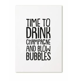 Zoedt Kaart Time to drink champagne