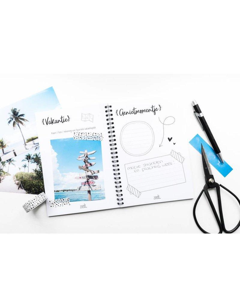 Zoedt Vakantiedagboek voor alle mooie vakantieherinneringen - Copy