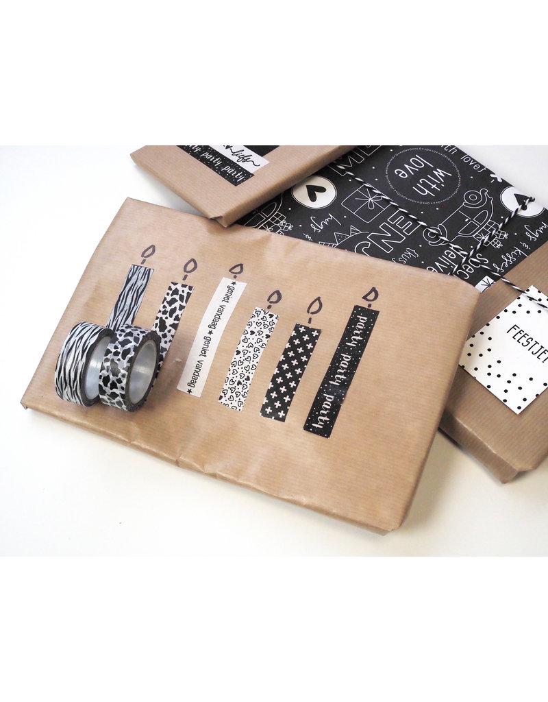 Zoedt Masking tape dierenprint