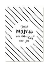Zoedt Cadeaukaartje Lieve Mama een dikke kus voor jou