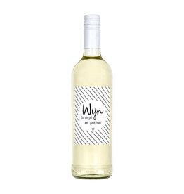 Zoedt Fles etiket met tekst Wijn is altijd een goed idee