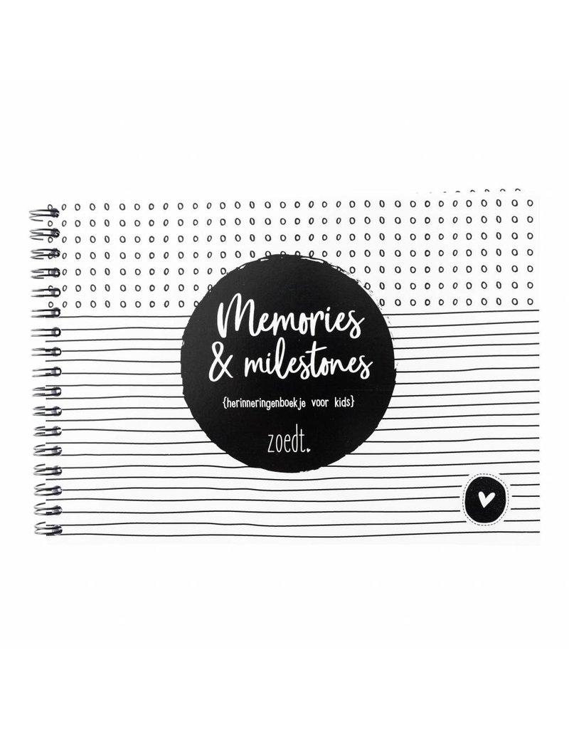 Zoedt Memories en milestones - herinneringenboekje voor kids - LICHT BESCHADIGD