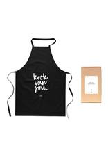 Zoedt Schort met tekst 'Kook van jou' in cadeauverpakking