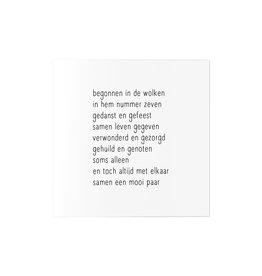 Zoedt Wenskaart met gedicht voor jubileum huwelijk
