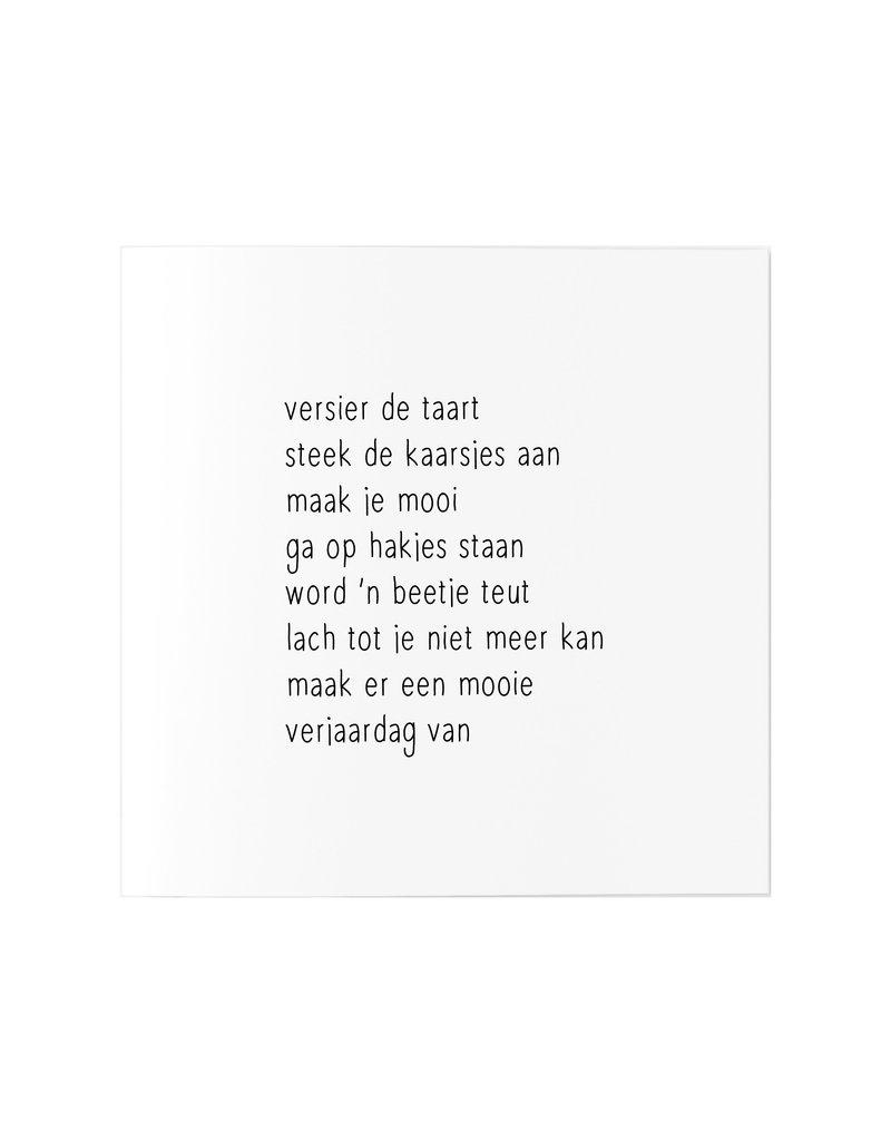 Zoedt Wenskaart met gedicht verjaardag