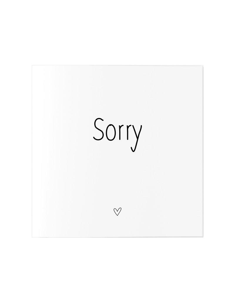 Zoedt Wenskaart met tekst Sorry
