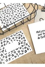 Zoedt Envelop met panter patroon