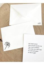 Zoedt Bedrukte envelop met berenklauw