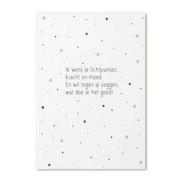 Zoedt Kaart gedicht 'Ik wens je lichtpuntjes...'
