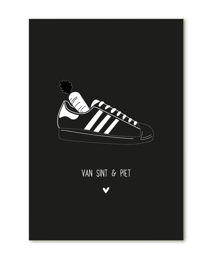 Zoedt Minikaartje  met tekst  'Van Sint en Piet'